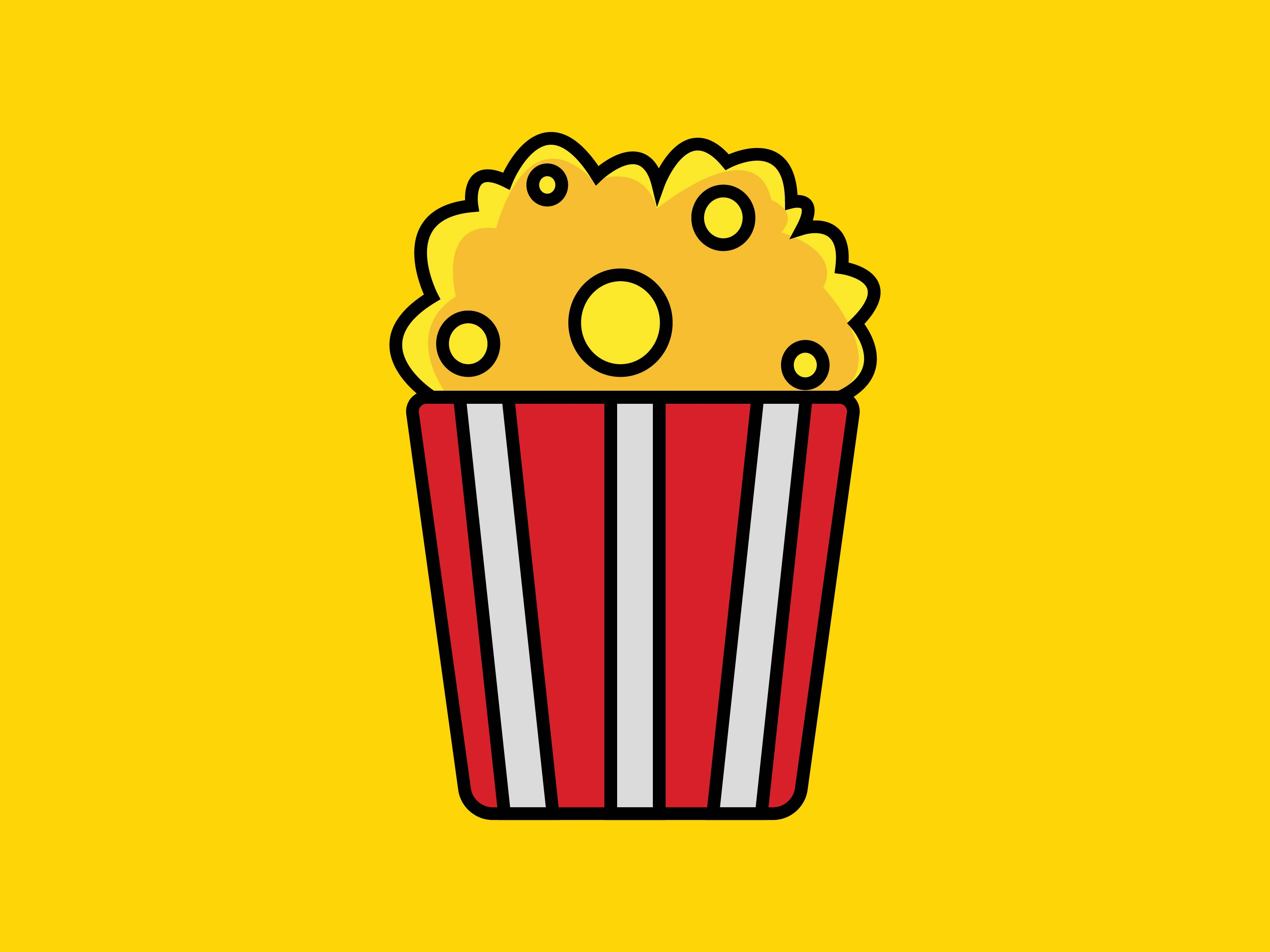 Download Free Popcorn Icon Graphic By Meandmydate Creative Fabrica for Cricut Explore, Silhouette and other cutting machines.