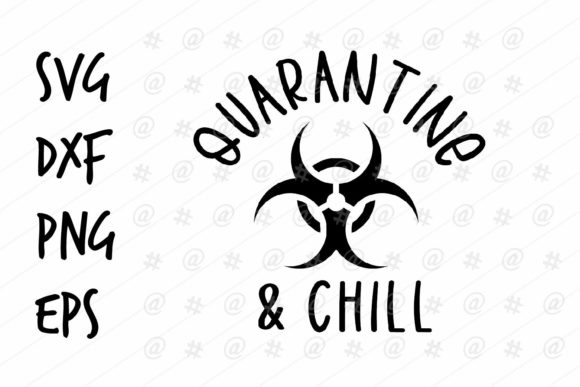 Print on Demand: Quarantine Chill Design Graphic Crafts By spoonyprint
