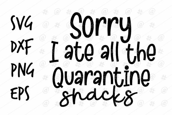 Download Free Quarantine Snacks Graphic By Spoonyprint Creative Fabrica for Cricut Explore, Silhouette and other cutting machines.