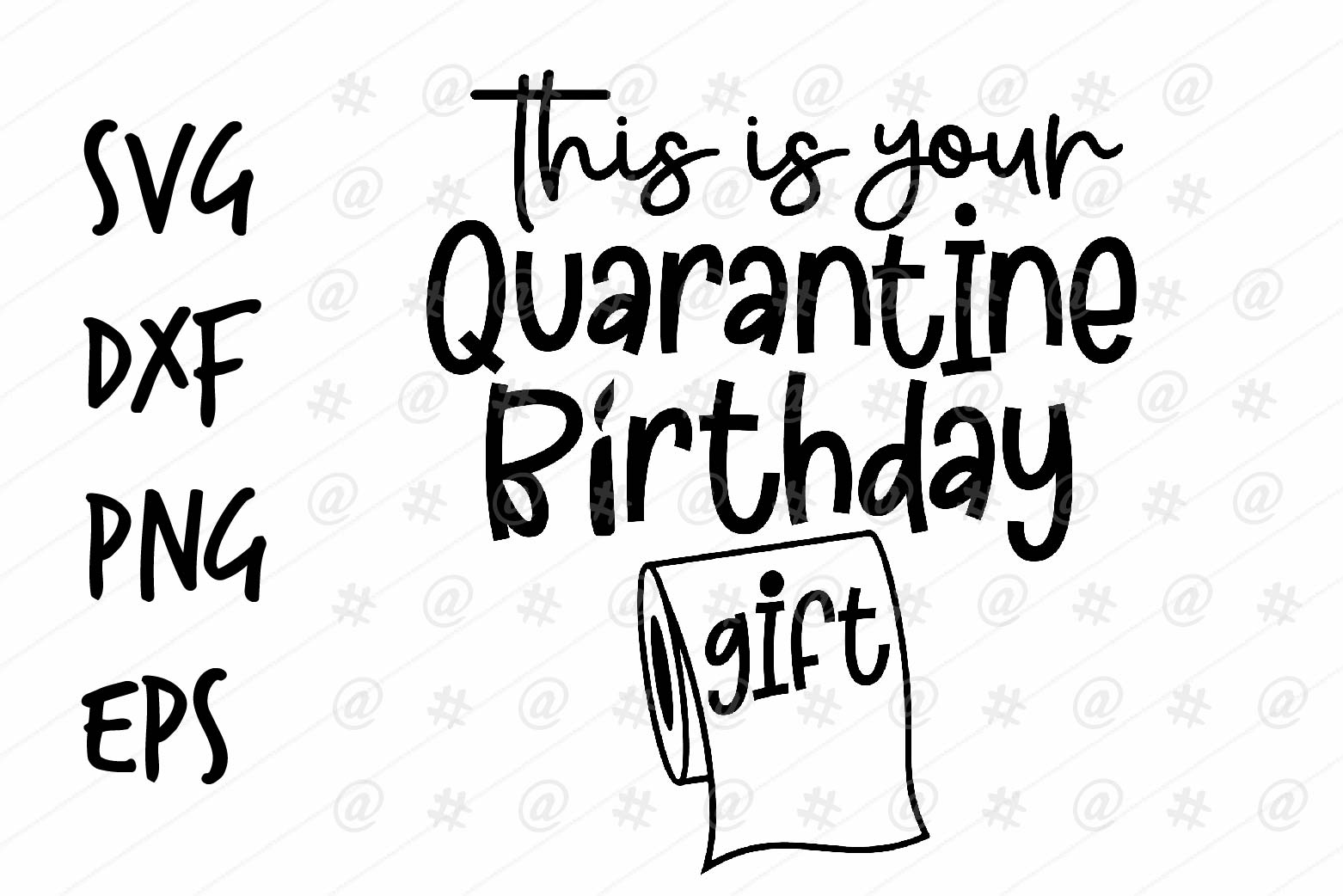 Download Free Quarantine Birthday Design Graphic By Spoonyprint Creative Fabrica for Cricut Explore, Silhouette and other cutting machines.