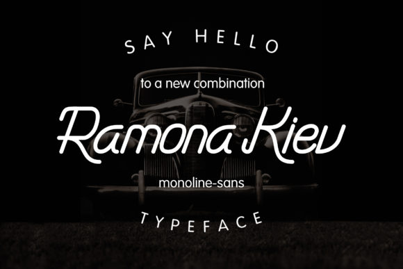 Download Free Ramona Kiev Font By Candacreative Creative Fabrica for Cricut Explore, Silhouette and other cutting machines.
