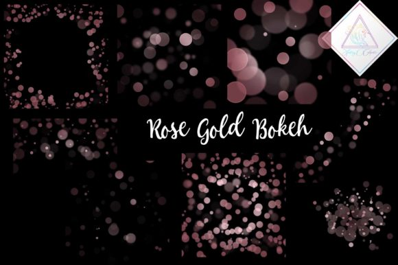 Print on Demand: Rose Gold Bokeh Overlay Clipart Graphic Illustrations By fantasycliparts