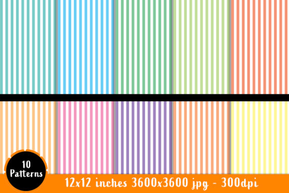 Download Free Scrapbook Paper Pastel Stripe Patterns Graphic By Designs By for Cricut Explore, Silhouette and other cutting machines.