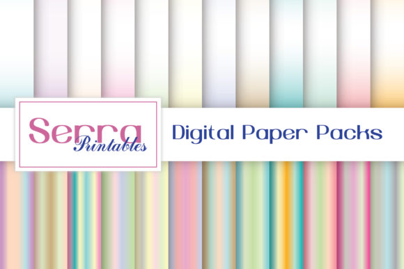 Download Free Seamless Pastel Ombre Patterns Graphic By Serradigital for Cricut Explore, Silhouette and other cutting machines.