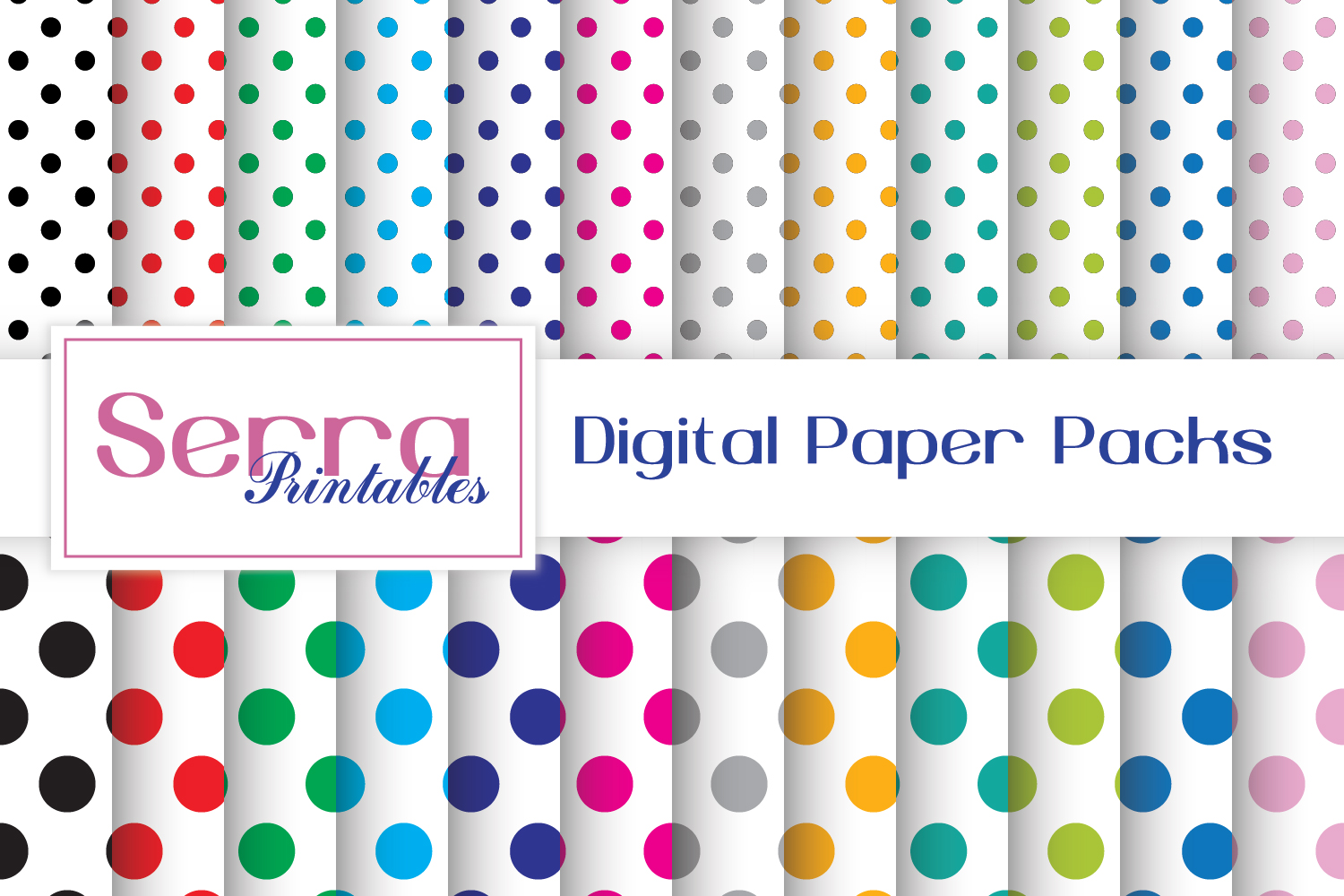 Download Free Seamless Polka Dot Patterns Graphic By Serradigital Creative for Cricut Explore, Silhouette and other cutting machines.