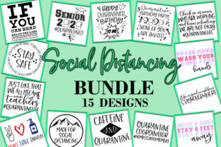Print on Demand: Social Distancing Bundle  Graphic Crafts By freelingdesignhouse