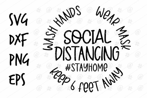 Download Free Social Distancing Design Graphic By Spoonyprint Creative Fabrica for Cricut Explore, Silhouette and other cutting machines.
