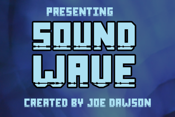 Download Free Sound Wave Font By Joe Dawson Creative Fabrica for Cricut Explore, Silhouette and other cutting machines.