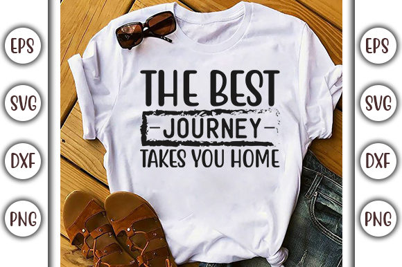 Print on Demand: Stay Home Design, the Best Journey Takes Graphic Print Templates By GraphicsBooth