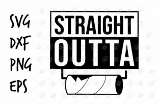 Download Free Straight Outta Toilet Paper Design Graphic By Spoonyprint SVG Cut Files
