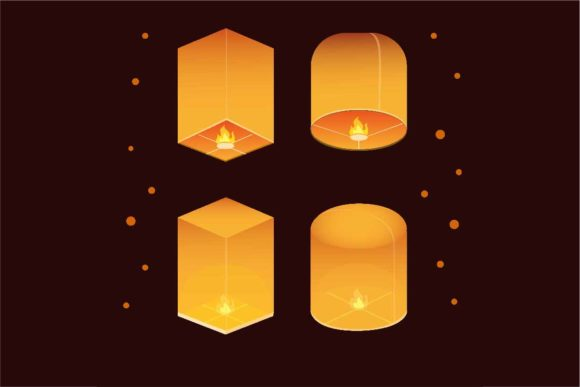 Download Free Thai Lantern Festival Icon Set Graphic By Aryo Hadi Creative for Cricut Explore, Silhouette and other cutting machines.