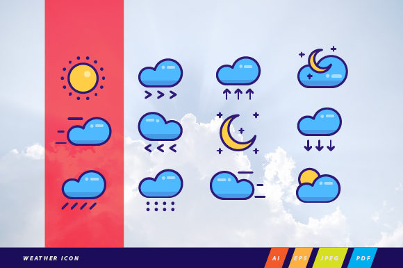 Weather Icon Bundle Graphic Icons By WeemStock
