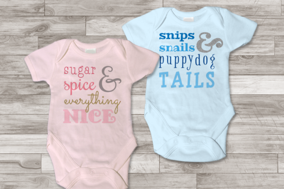Download Free What Babies Are Made Of Subway Art Duo Graphic By for Cricut Explore, Silhouette and other cutting machines.