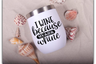 Print on Demand: Wine Tumbler Quotes Bundle Graphic Print Templates By Designdealy 2