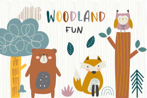Print on Demand: Woodland Fun Clipart 2 Graphic Illustrations By poppymoondesign