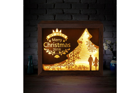 XMAS 3D Paper Cutting Light Box 5 Graphic