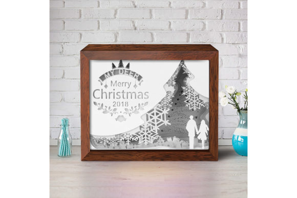 XMAS 3D Paper Cutting Light Box 5 Graphic Item