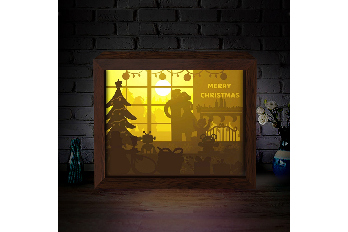 Download Free Xmas 3d Paper Cutting Light Box 9 Graphic By Lightboxgoodman Creative Fabrica for Cricut Explore, Silhouette and other cutting machines.