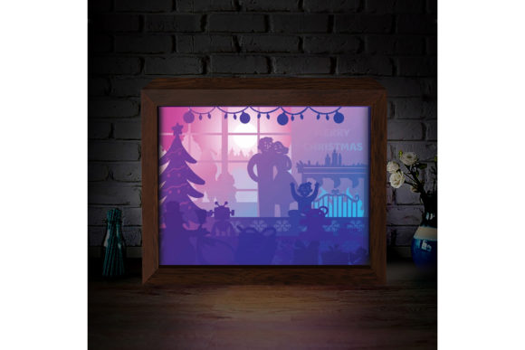 Download Free Xmas 3d Paper Cutting Light Box 9 Graphic By Lightboxgoodman for Cricut Explore, Silhouette and other cutting machines.