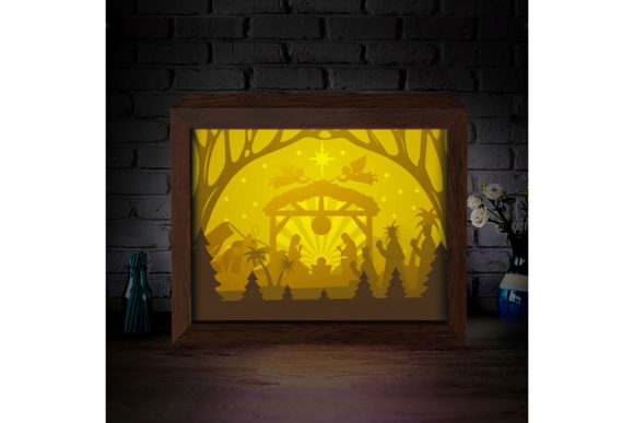 XMAS 3D Paper Cutting Light Box 8 Graphic 3D Shadow Box By LightBoxGoodMan