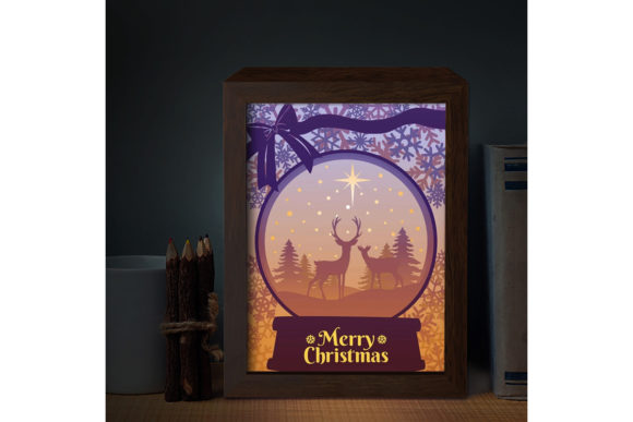 XMAS 3D Paper Cutting Light Box 7 Graphic Download