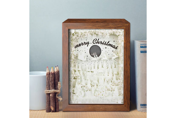 XMAS 3D Paper Cutting Light Box 6 Graphic Item