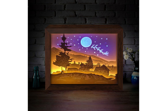XMAS 3D Paper Cutting Light Box 3 Graphic 3D Shadow Box By LightBoxGoodMan