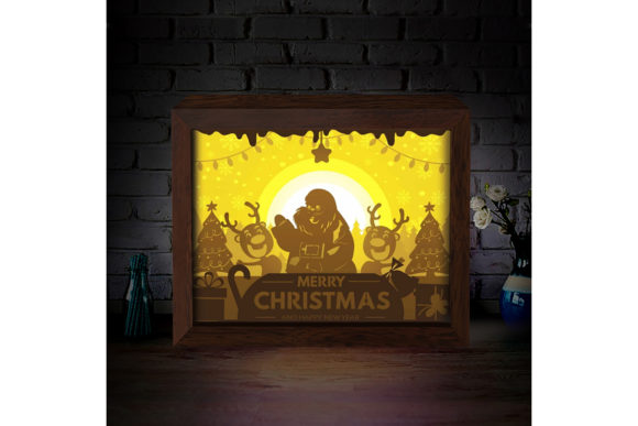 Xmas 2 3d Paper Cutting Light Box Graphic By Lightboxgoodman