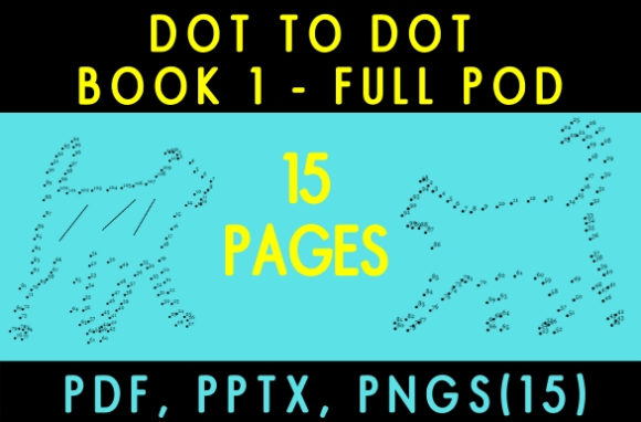 Download Free Dot To Dot For Kids Book 1 Graphic By Kdp Ease Creative Fabrica for Cricut Explore, Silhouette and other cutting machines.