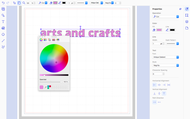 edit text in canvas workspace