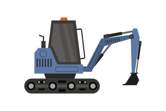 Download Free Excavator Icon Graphic By Marco Livolsi2014 Creative Fabrica for Cricut Explore, Silhouette and other cutting machines.