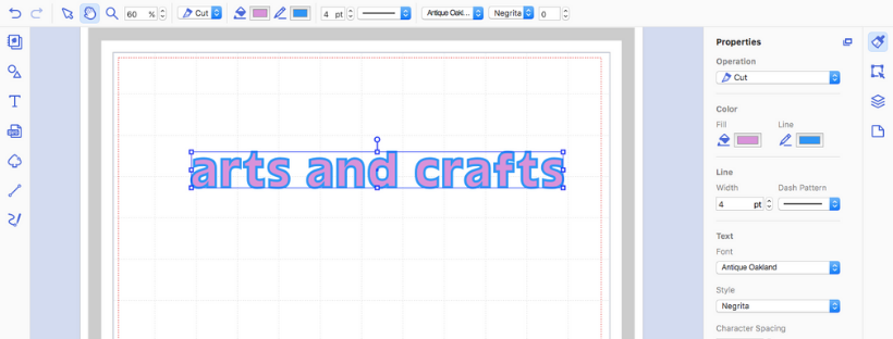 how to edit text in brother canvas workspace