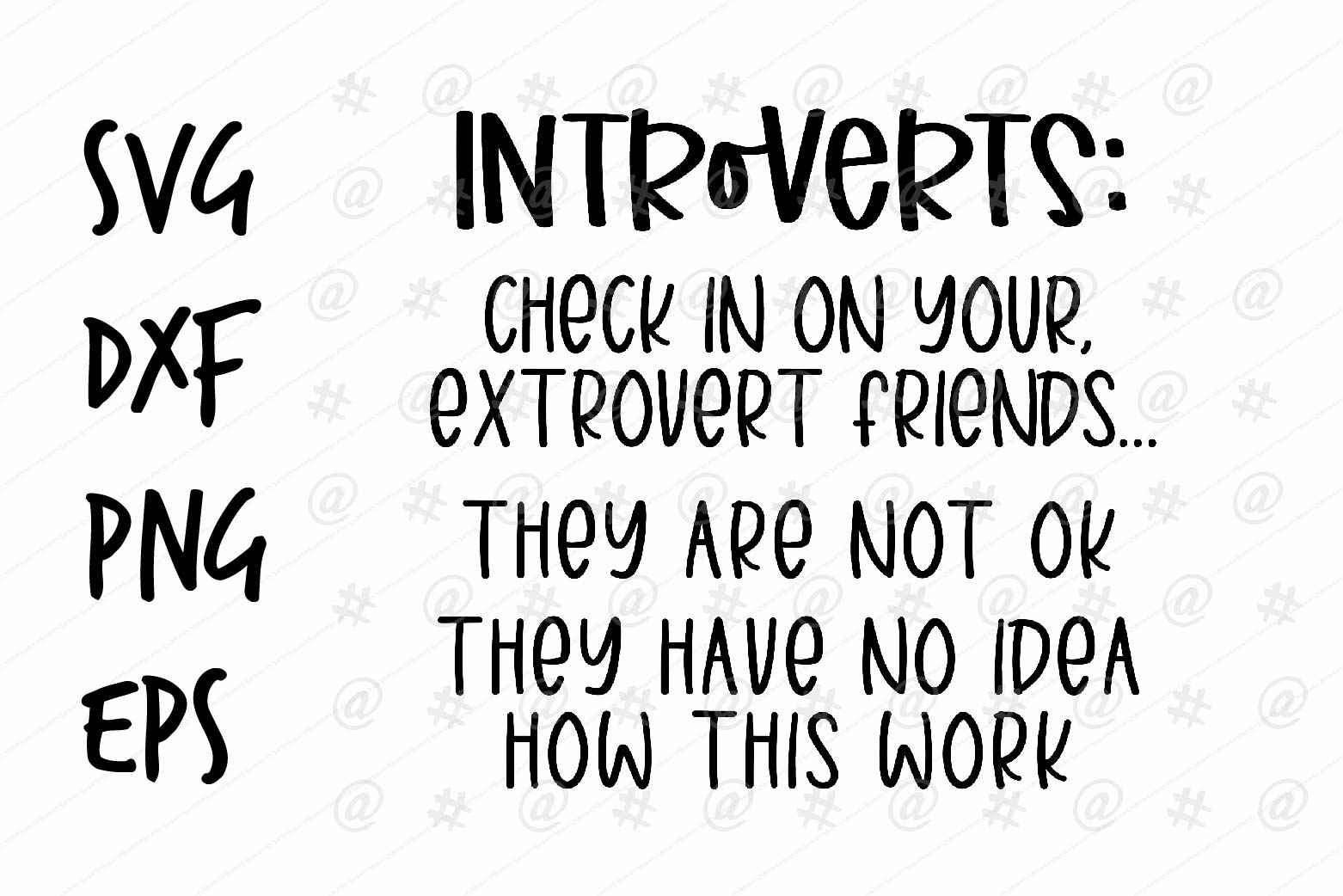 Download Free Introvert Design Graphic By Spoonyprint Creative Fabrica for Cricut Explore, Silhouette and other cutting machines.