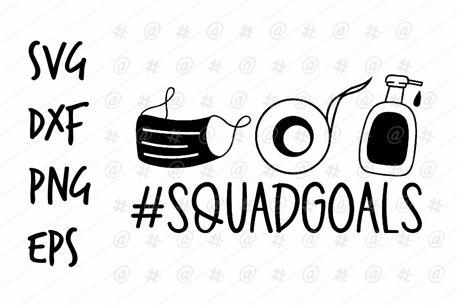 Download Free Squad Goals Design Graphic By Spoonyprint Creative Fabrica for Cricut Explore, Silhouette and other cutting machines.