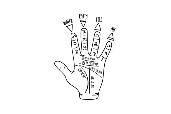 Occult Hand Designs & Drawings Craft Cut File By Creative Fabrica Crafts