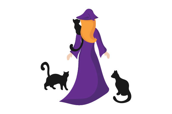Download Free Cat Witch Svg Cut File By Creative Fabrica Crafts Creative Fabrica for Cricut Explore, Silhouette and other cutting machines.