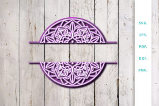 Download Free 3d Layered Split Mandala 1 Graphic By Sintegra Creative Fabrica for Cricut Explore, Silhouette and other cutting machines.