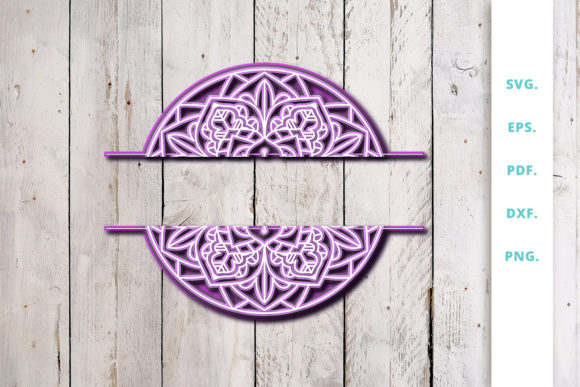 Download Free 3d Multilayer Floral Chevron Letter R Graphic By Sintegra for Cricut Explore, Silhouette and other cutting machines.