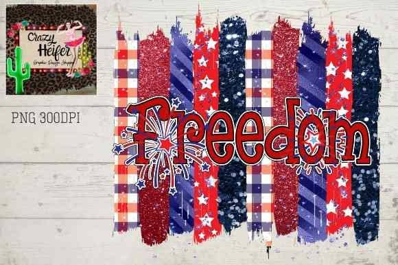Print on Demand: 4th of July Freedom Patriotic Fireworks Graphic Illustrations By Crazy Heifer Design Shoppe