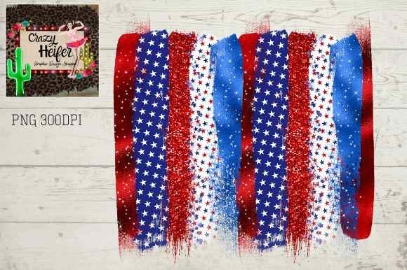 Print on Demand: 4th of July Patriotic Summer Brush Strok Graphic Illustrations By Crazy Heifer Design Shoppe