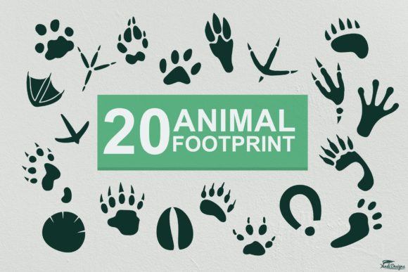 Print on Demand: Animal Footprints Vector Graphic Objects By YandiDesigns