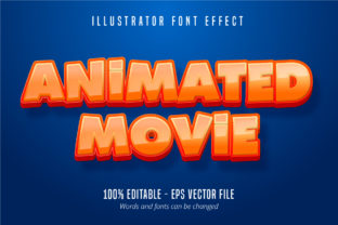Print on Demand: Animated Movie  Text, Font Effect Graphic Graphic Templates By Mustafa Bekşen