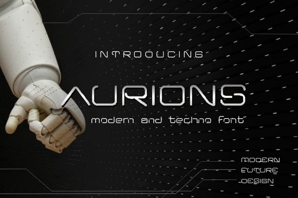 Print on Demand: Aurions Display Font By victoriant99