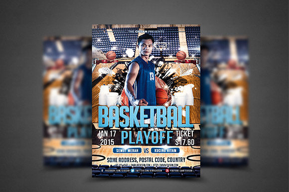 Download Free Basketball Playoff Flyer Template Grafico Por Ciusan Creative for Cricut Explore, Silhouette and other cutting machines.