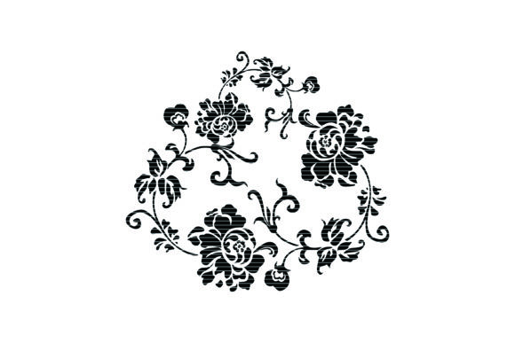 Download Free Beautiful Flower Clip Art Graphic By Meshaarts Creative Fabrica for Cricut Explore, Silhouette and other cutting machines.