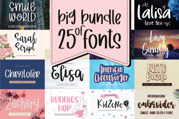 Big Bundle of 25 Fonts  By BitongType