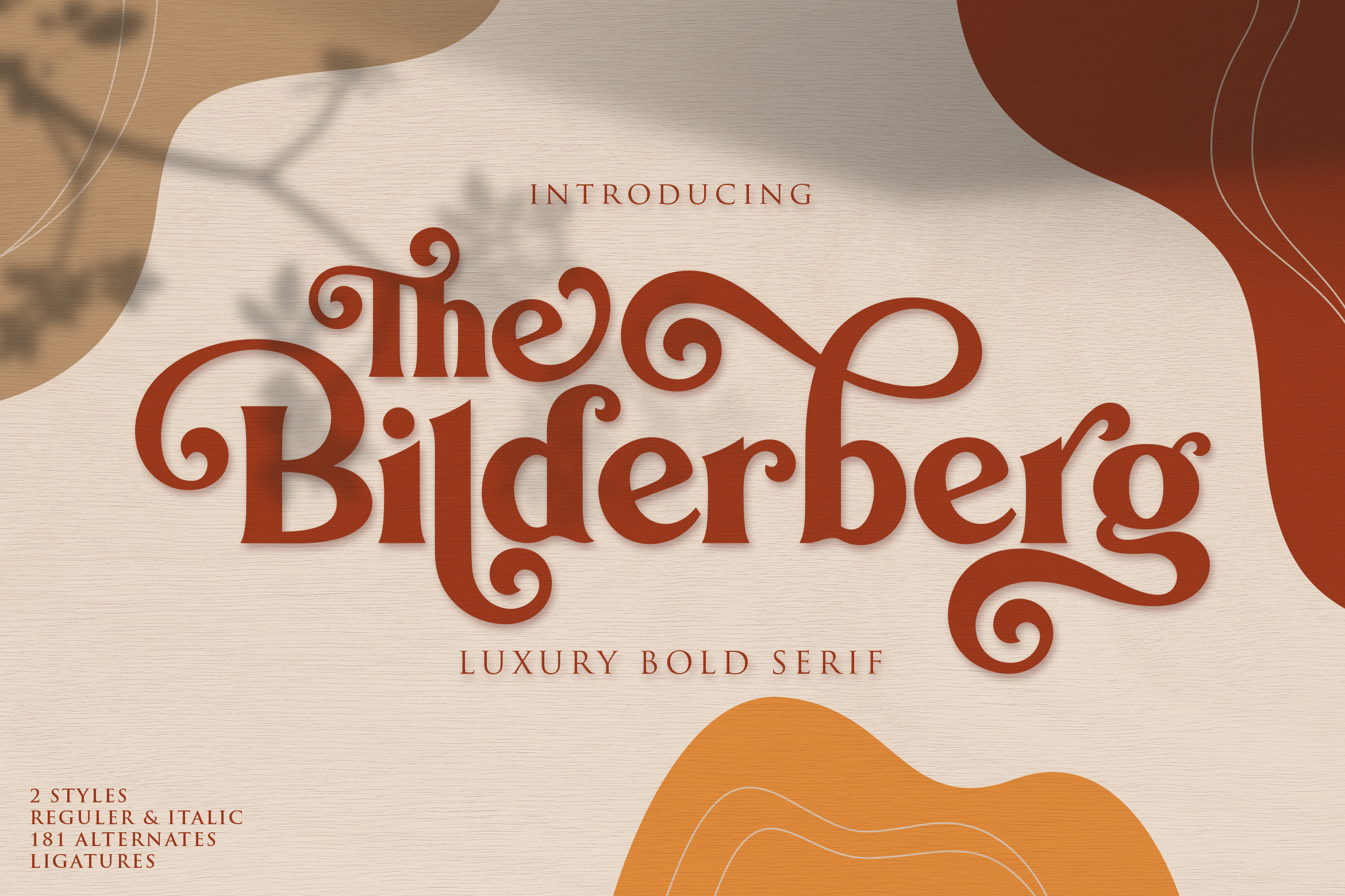 Download Free Bilderberg Font By Almeera Studio Creative Fabrica for Cricut Explore, Silhouette and other cutting machines.