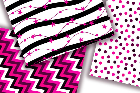 Black Pink Digital Papers Graphic Backgrounds By PinkPearly - Image 2