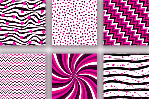Black Pink Digital Papers Graphic Backgrounds By PinkPearly - Image 3