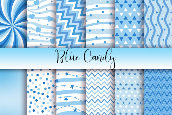 Download Free Blue Candy Background Digital Papers Graphic By Pinkpearly for Cricut Explore, Silhouette and other cutting machines.
